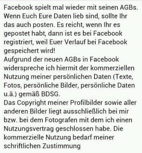 AGB-Meldung Facebook by SLMS.de